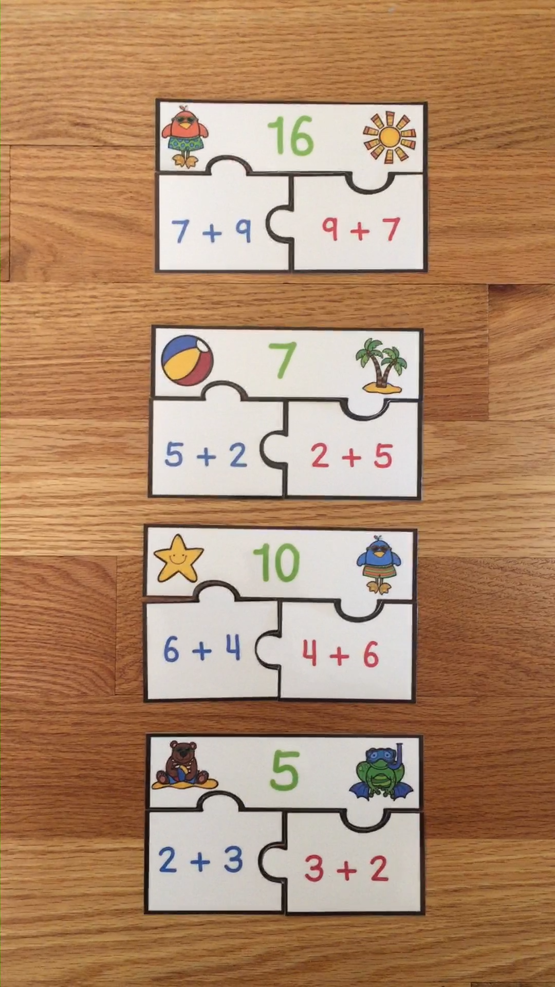 Commutative Property Of Addition Game 1st Grade Math