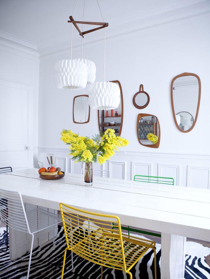 Comedor con espejos originales en la pared #comedor #salón #espejo ...