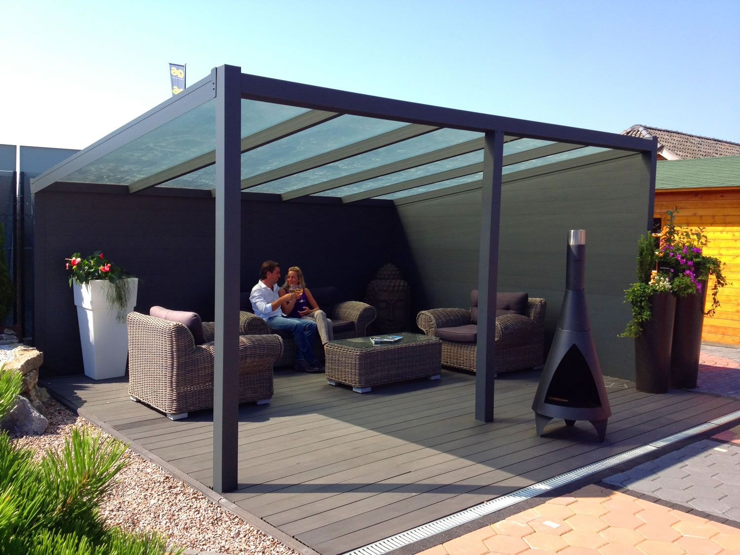 A Glass Prepared Aluminium Garden Canopy / Veranda With A Depth Of 2.0m,  This Is Also Available In Other Depths Allowing You To Pick And Choose The  Perfect ...