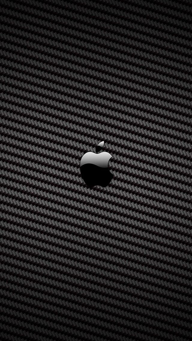 Carbon fiber Apple wallpaper iphone, Apple iphone