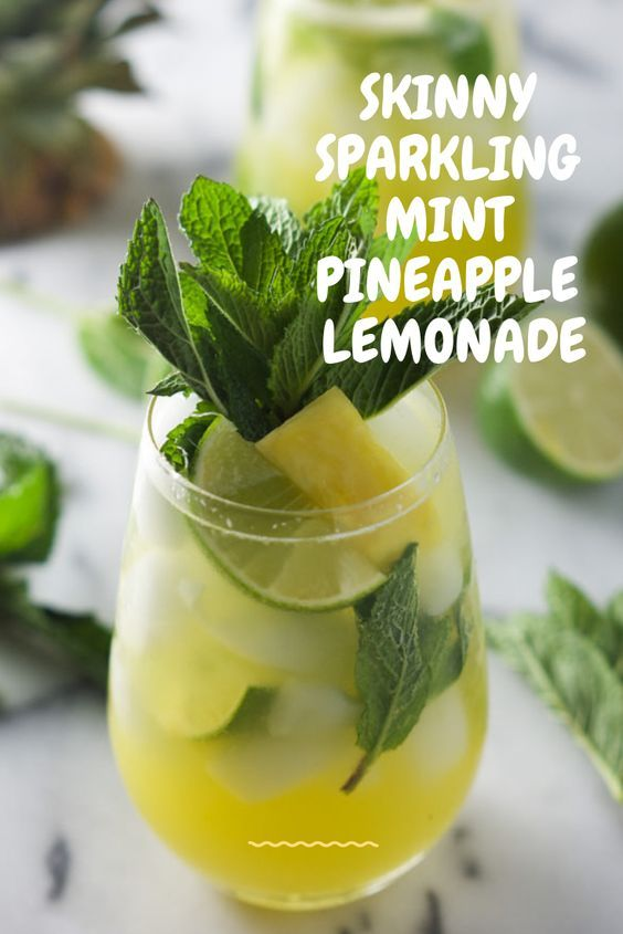 #SKINNY #SPARKLING #MINT #PINEAPPLE #LEMONADE #lemonadepunch