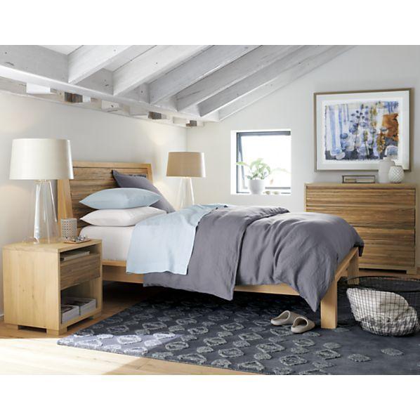 Sierra Bed Crate And Barrel Linen Bedroom Headboards