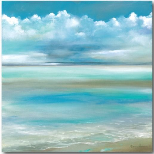 Blue Sky And Ocean Beach Art Canvas Beach Canvas Art Painting