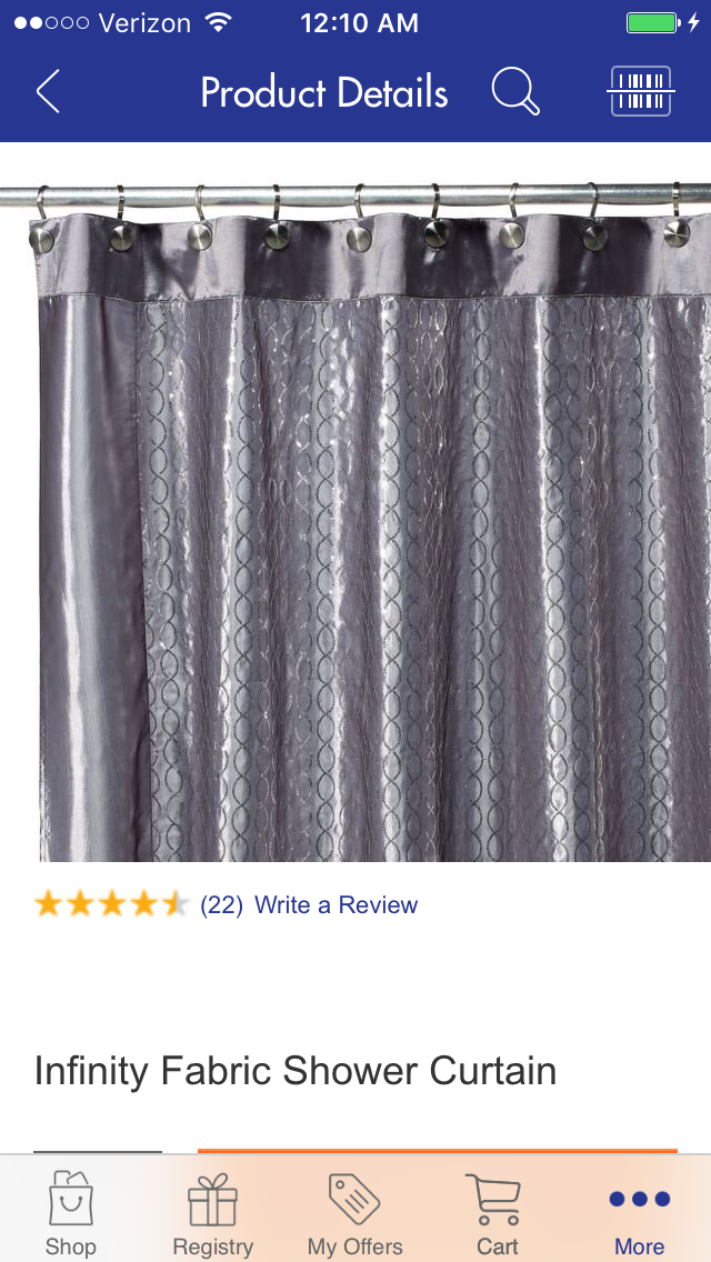 Shower Curtain Infinity Bed Bath Beyond Fabric Shower
