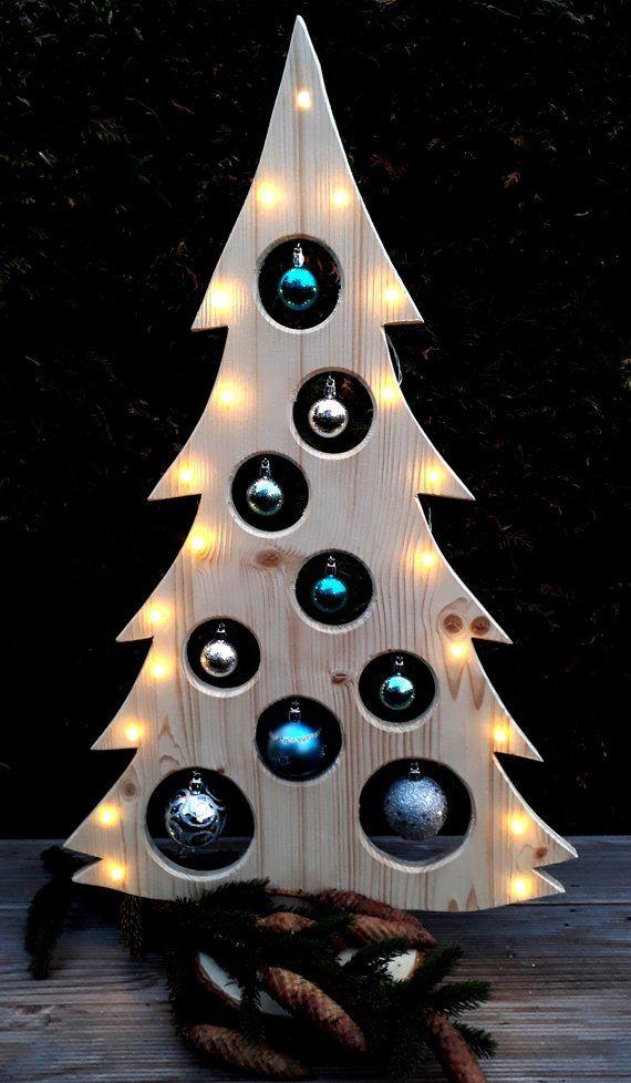 weihnachtsbaum holzdeko led advent weihnachtsdeko baum. Black Bedroom Furniture Sets. Home Design Ideas
