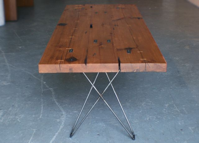 Cenzo Design   Pittsburgh Custom Modern Furniture   Reclaimed Lumber Dining  Table 5