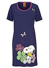 Round Neck Snoopy Print Night Shirt