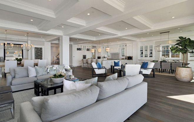 White Cape Cod Beach House Design- open floor plan | Dream Home ...