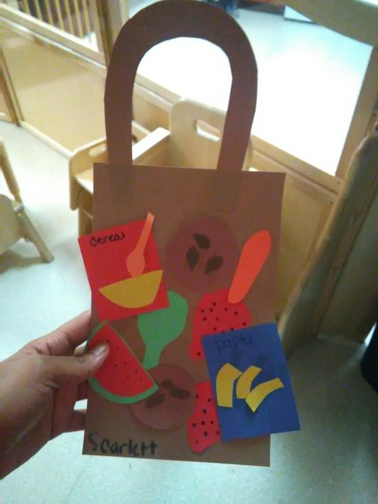 Preschool Grocery Craft