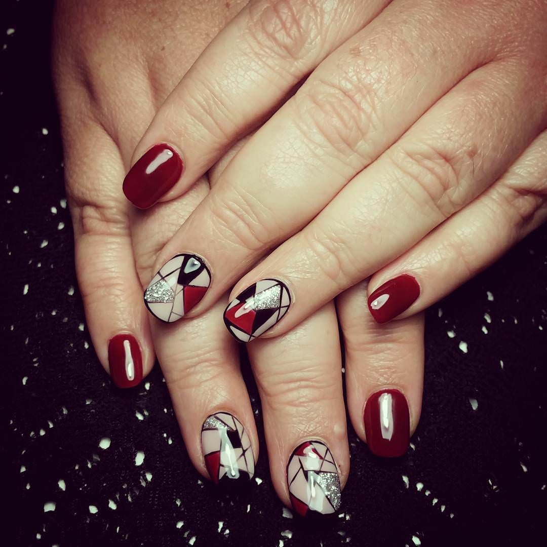 Dark-Red-Nails-For-White-Skin Awesome Acrylic Nail Designs Trends Nail Art  Acrylic Nail Designs Trends - Awesome Acrylic Nail Designs Trends Nails Pinterest Dark Red