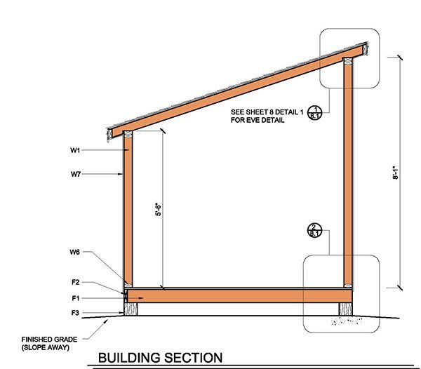 8x8 Lean To Shed Plans 14 Building Section Lean To Shed Lean To Shed Plans Diy Shed Plans