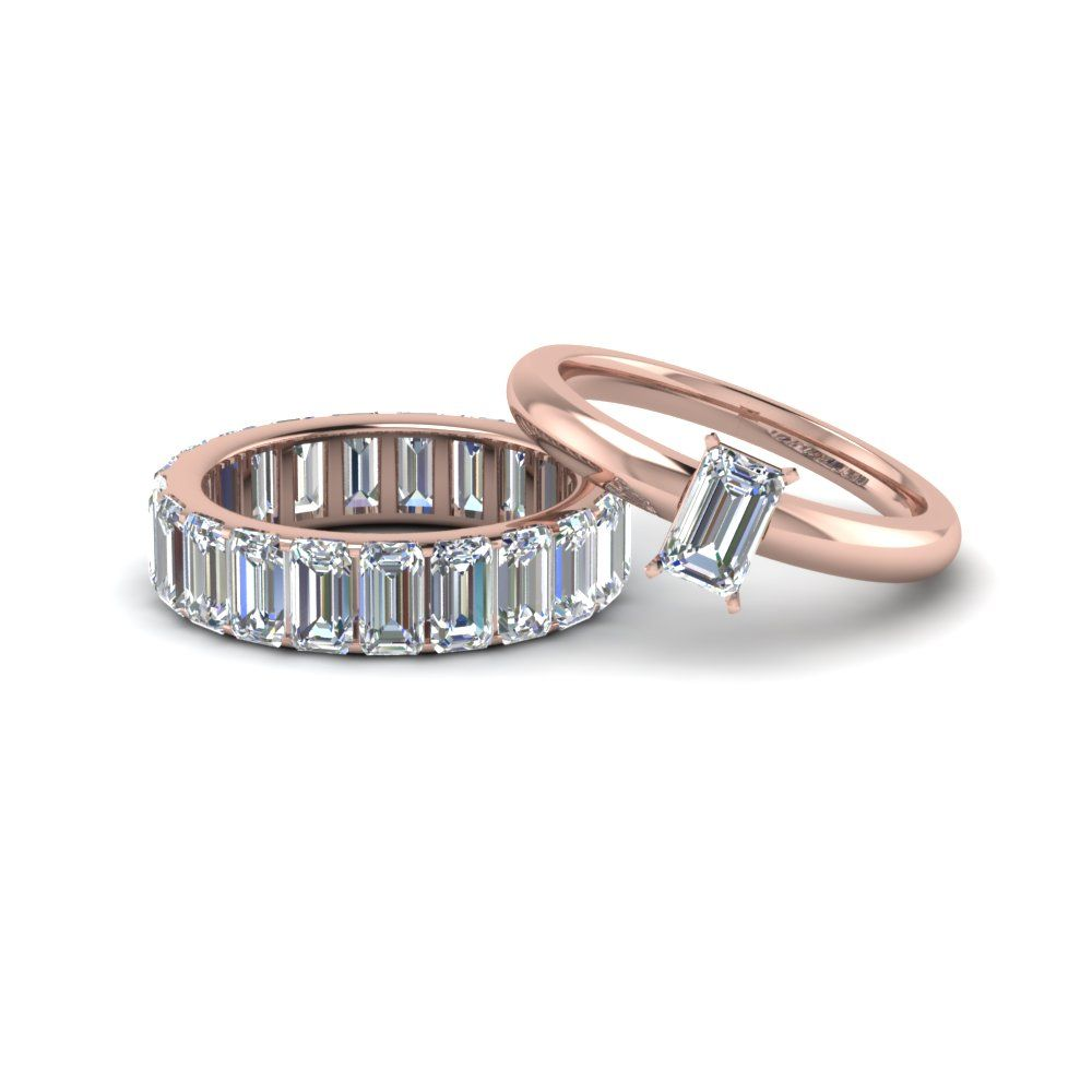 Angara Channel-Set Princess Diamond Wedding Band in Rose Gold j2V8TnHG