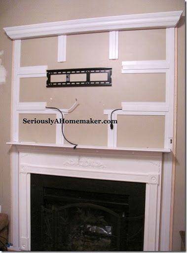 How To Hide Tv Cords In Trim Work Home Hidden Tv Home Diy