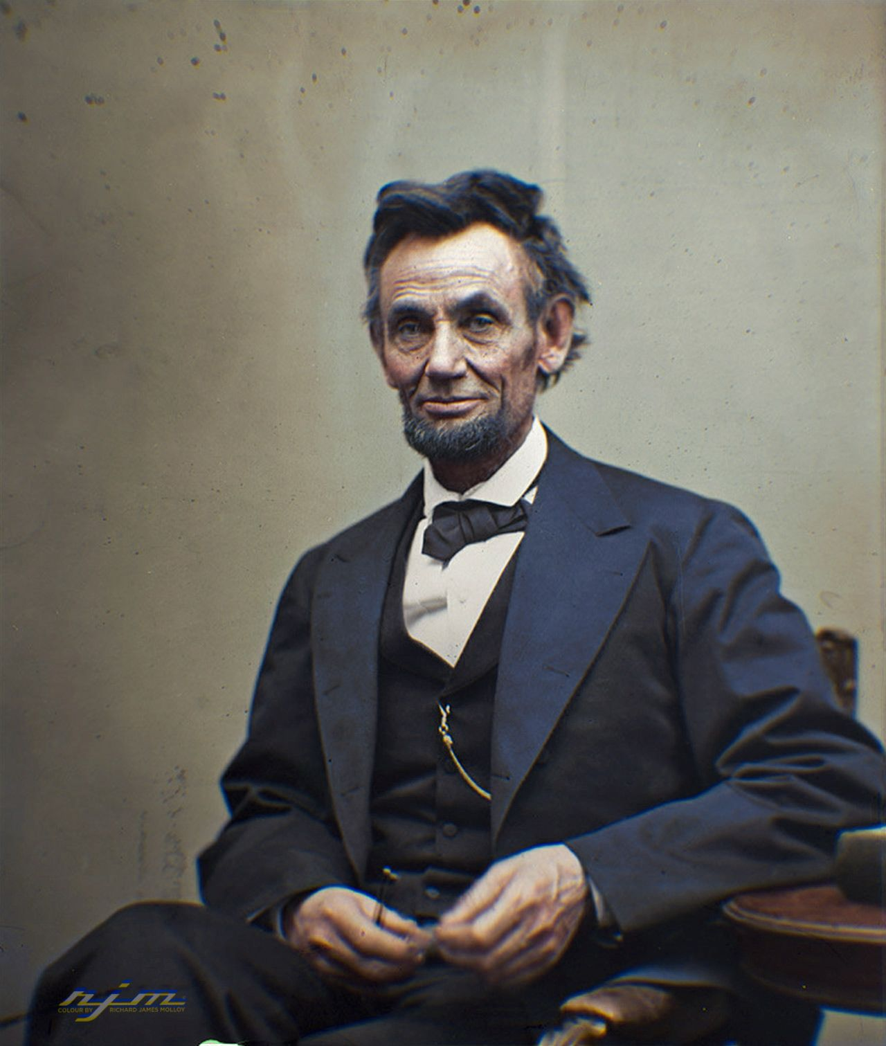 Abraham Lincoln February 12 1809 April 15 1865 Colorized