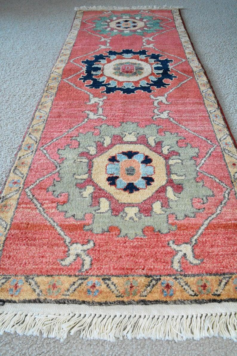 Runner Rug Chobi Afghan Runner Rug Wool Rug Handmade Rug Woven Rug