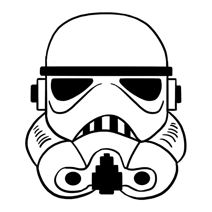 How To Draw A Stormtrooper Helmet Really Easy Drawing Tutorial Star Wars Helmet Stormtrooper Helmet Helmet Drawing