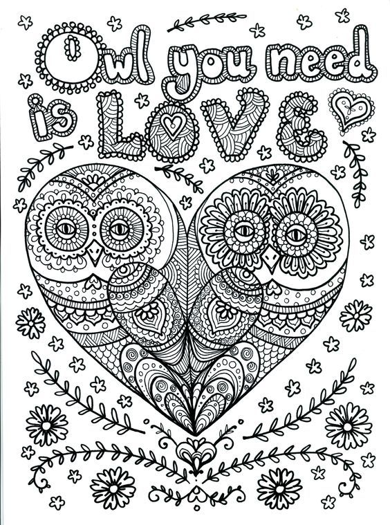 Heart Coloring Pages Quotes Images