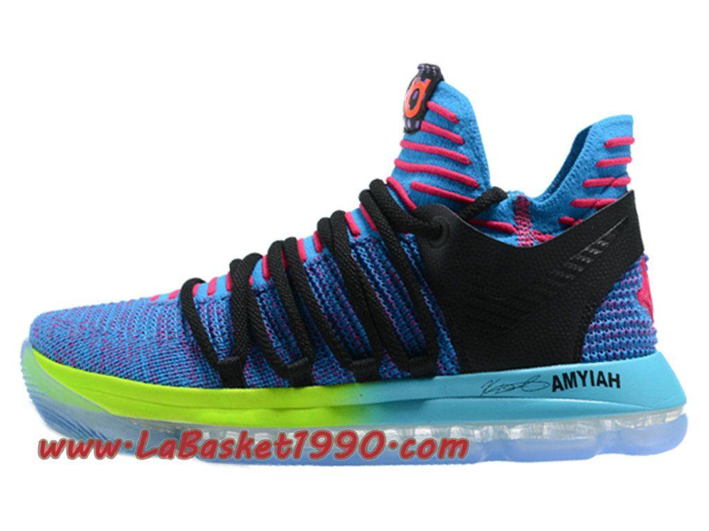 8af5605926a Nike KD 10 Prix Chaussures de BasketBall Pas Cher Pour Homme Bleu Noir