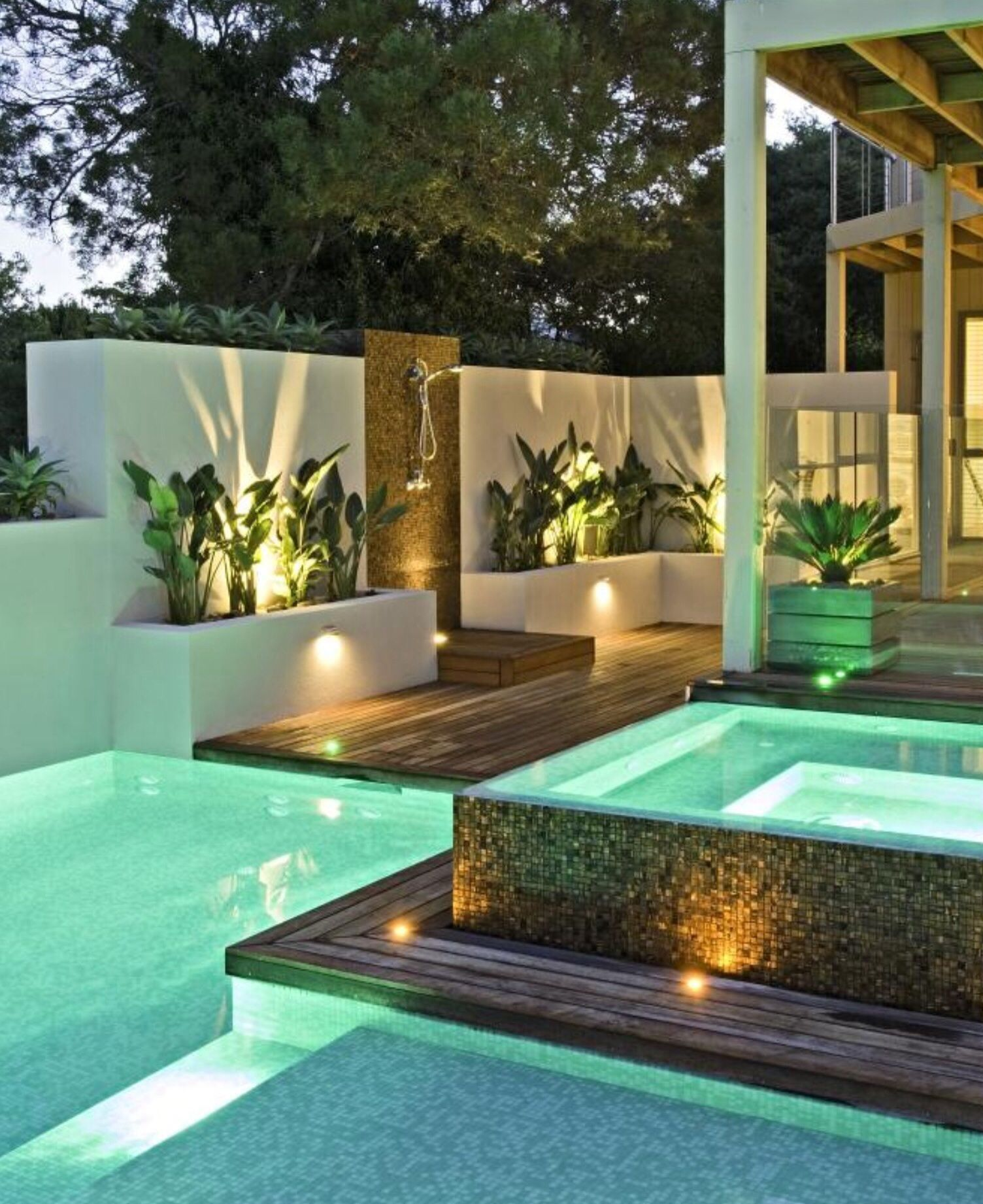 Pool and spa in your entertaining area | Small pool design ... on Outdoor Living Pool And Spa id=53412