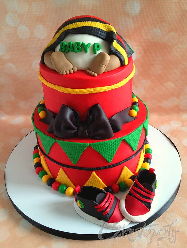 Jamaican Themed Baby Shower Cake Google Search Ayden