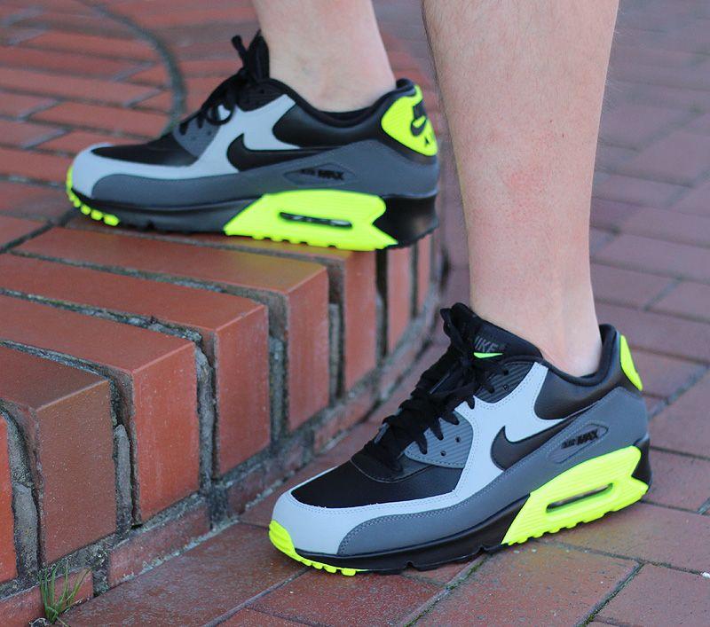 Nike Air Max 90 Leather Black Wolf Grey Dark Grey Nike Air Max Nike Schuhe Gunstig Nike Air