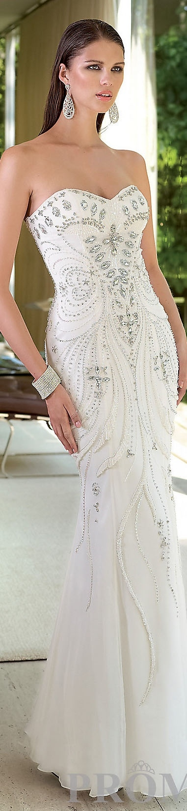 Beautiful beaded and sequined gown.