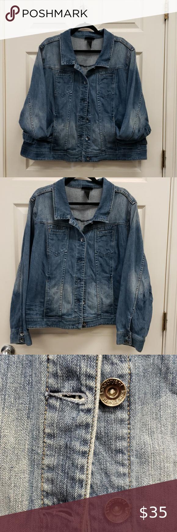 Lane Bryant Denim Jacket Blue Size 26 Denim Jacket Jackets Lane Bryant [ 1740 x 580 Pixel ]