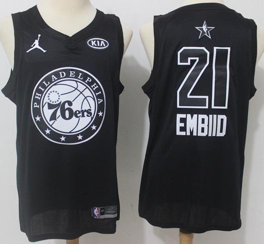 Mens 2018 All Star Joel Embiid Jersey Black Philadelphia 76ers Fanatics  Swingman 9795e707b