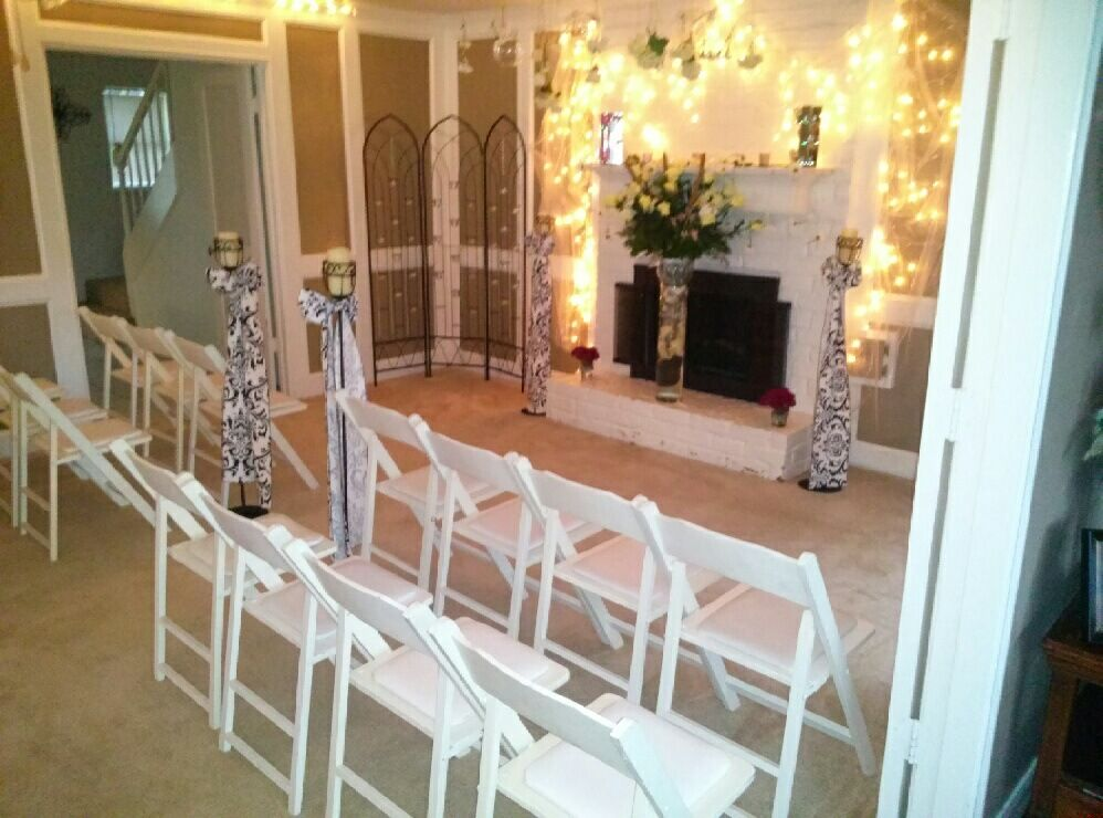 Very small intimate home wedding. In our living room ...