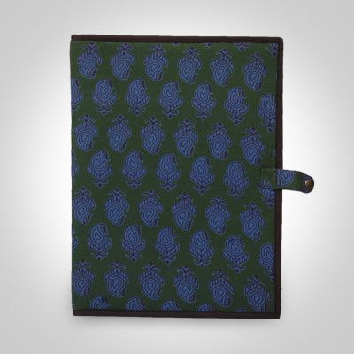 Green Handcrafted Fabric Cover File Folder - 35 X 26 cm