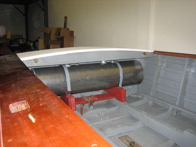 Brand New Aluminum Fuel Tank And We Got The Vinyl On The Deck We Re Making Progress Renovations Chris Craft Deck