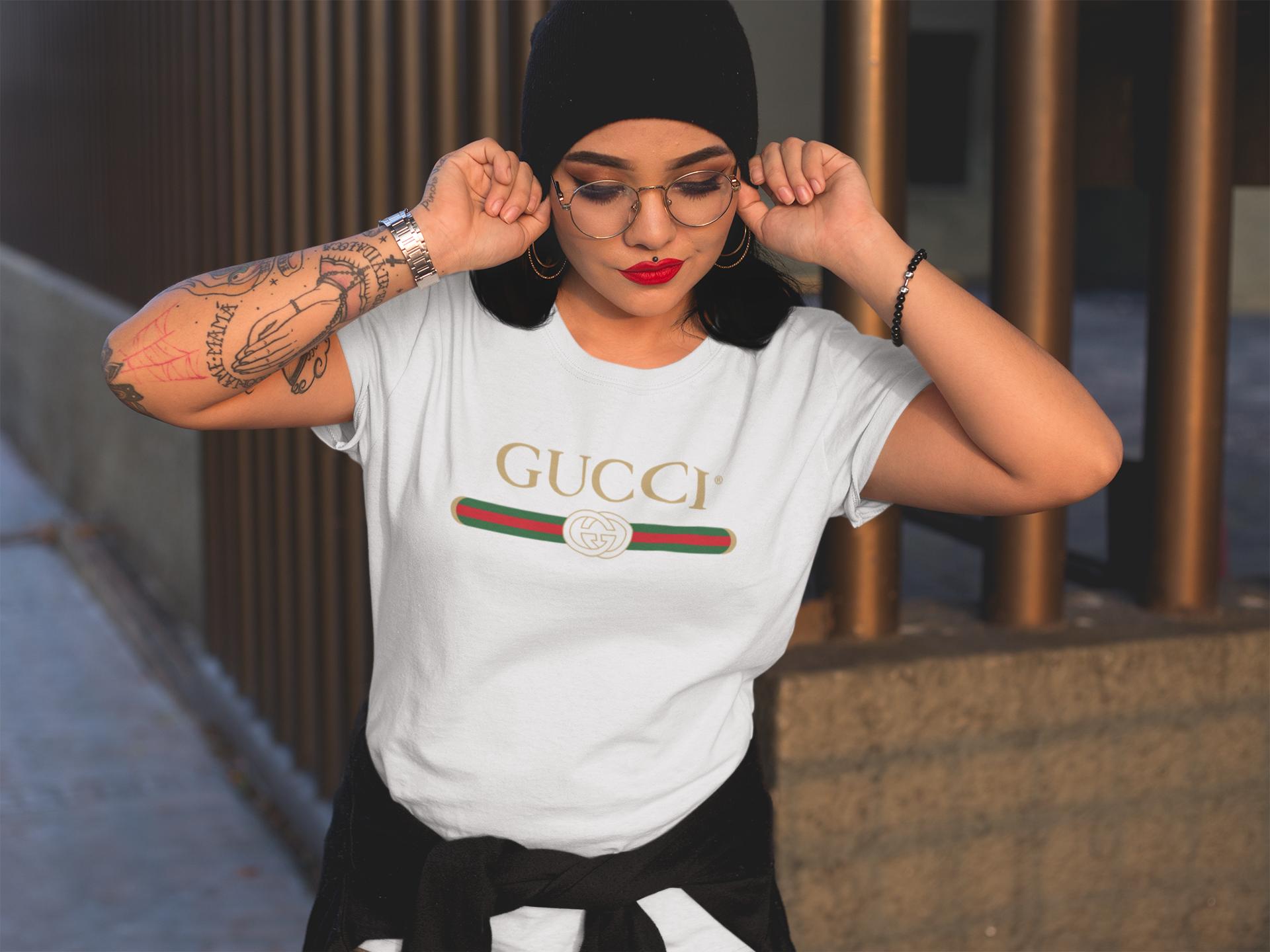 b36fa75eac4 Gucci Shirt - Gucci Vintage - Gucci Tshirt - Gucci Inspired - Mens Tshirt -  Womens Tshirt - Designer Inspired - Gucci Unisex White Tshirt