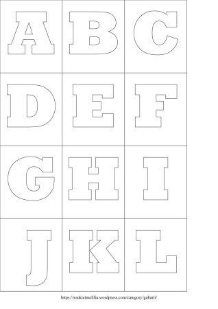 Gabarits Alphabet A Telecharger Au Format Pdf Pochoir Alphabet Lettre Alphabet A Imprimer Lettres De L Alphabet Imprimables