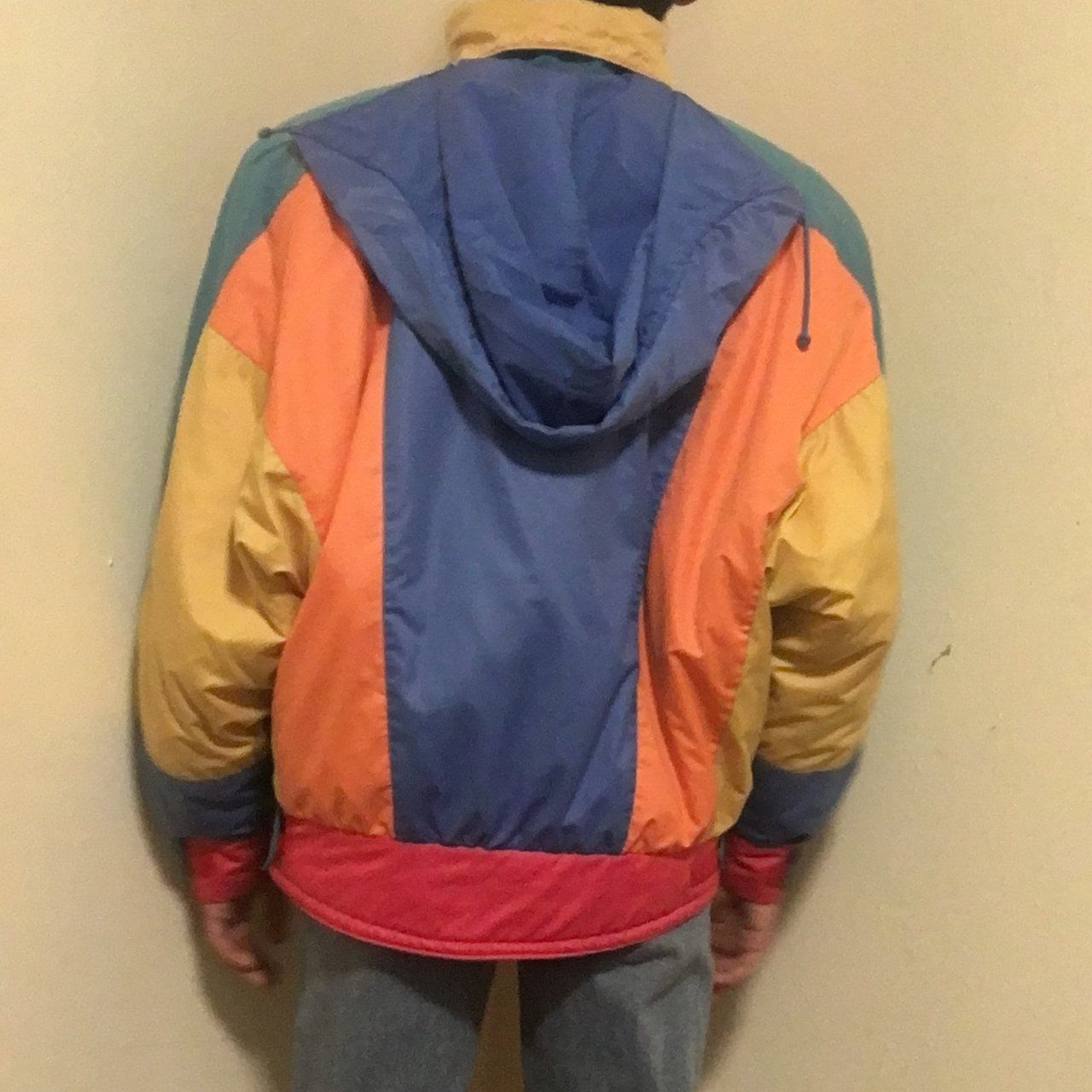 aaca183d9 Amazing colorblock puffy coat. This 80s 90s jacket has the a - Depop