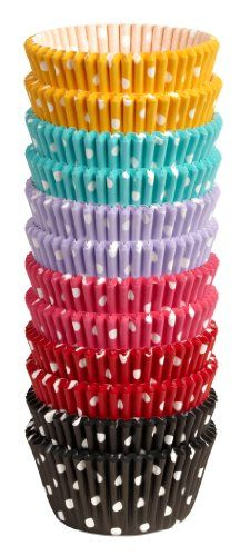 Wilton 415-2286 300 Count Polka Dots Standard Baking Cups. How did I never think to go to amazon for these