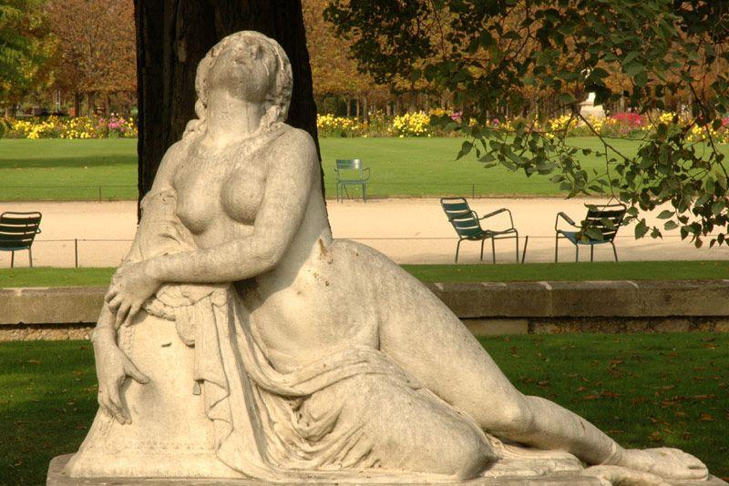 Jardin Des Tuileries Mort De Lais Roland Mathieu Meusnier 1850