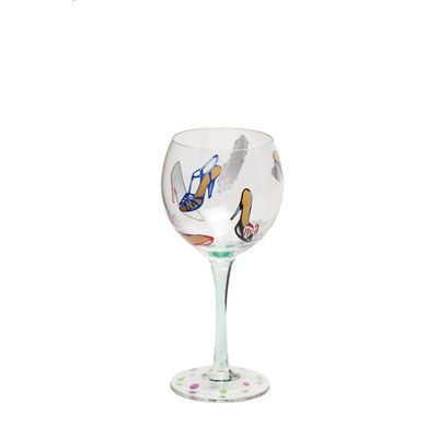 Painted Wine Glasses | Hand Painted Wine Glass Features: -Hand-painted clear stemware glass ...