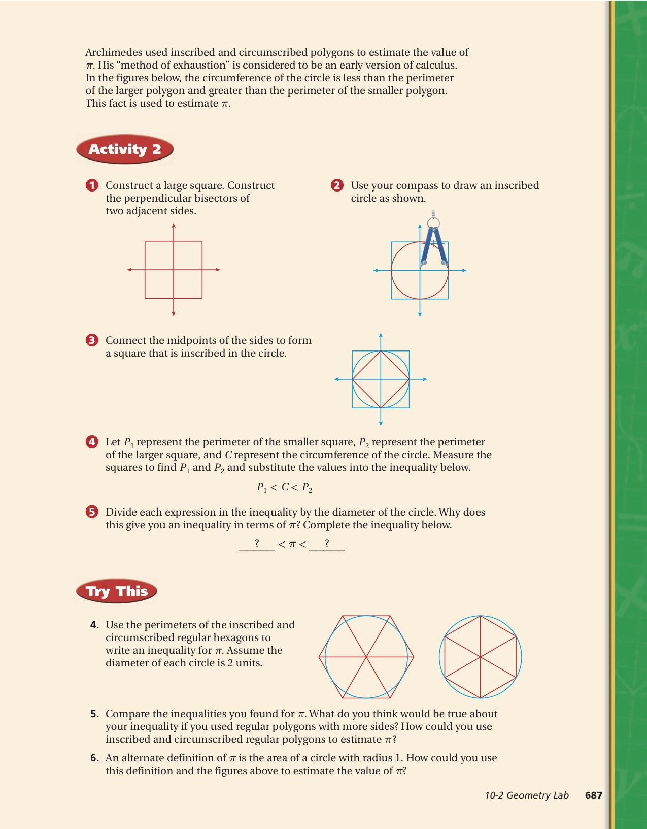 Download This Geometry Lab To Develop The Value Of Pi Visit Http: