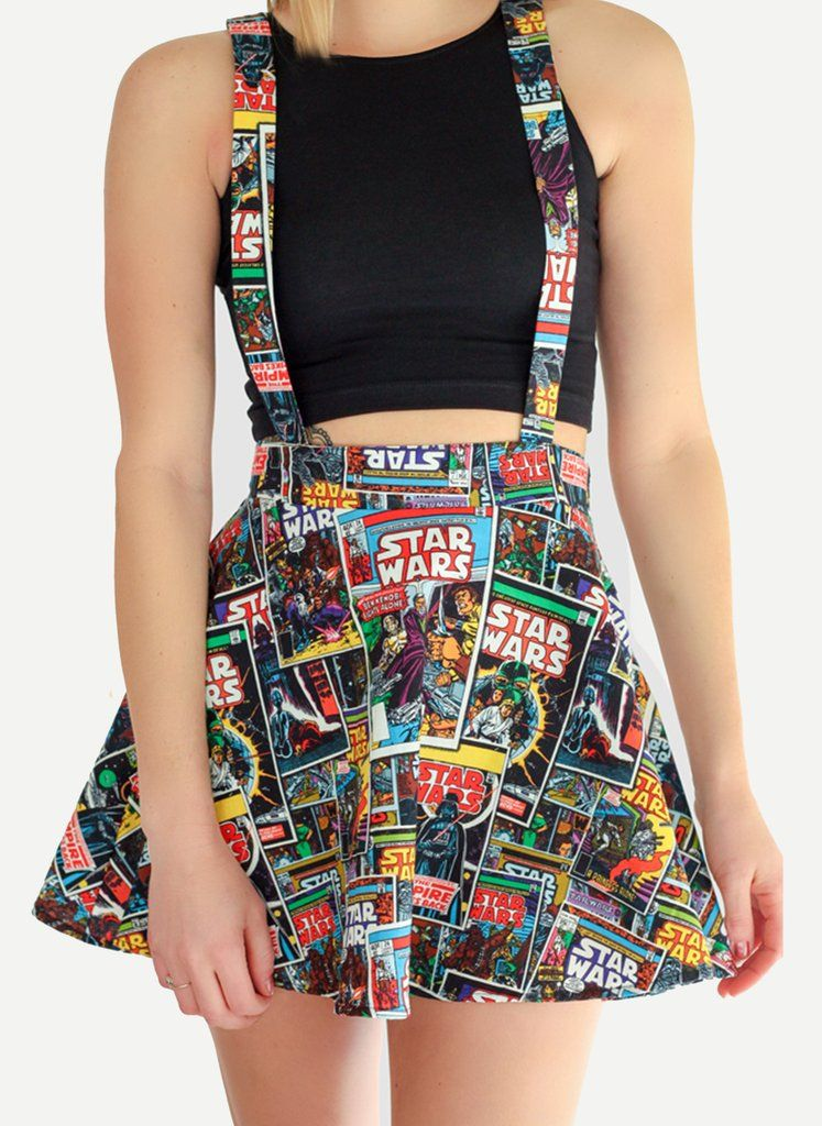 Star Wars Suspender Skater Skirt - Spikes and Seams