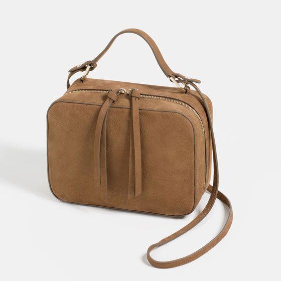 Image 1 of NUBUCK CROSSBODY BAG from Zara