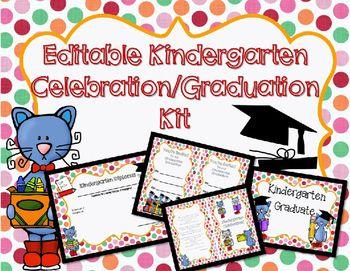 Editable kindergarten graduationcelebration printables editable kindergarten graduationcelebration printables yadclub Images