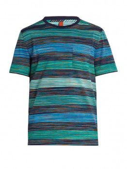 a7866014e65531 Striped Crew-Neck T-Shirt   Pattern T-Shirts   Cotton shirts for men ...