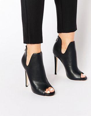 Truffle Collection Rita Peeptoe Heeled Shoe Boots | ASOS
