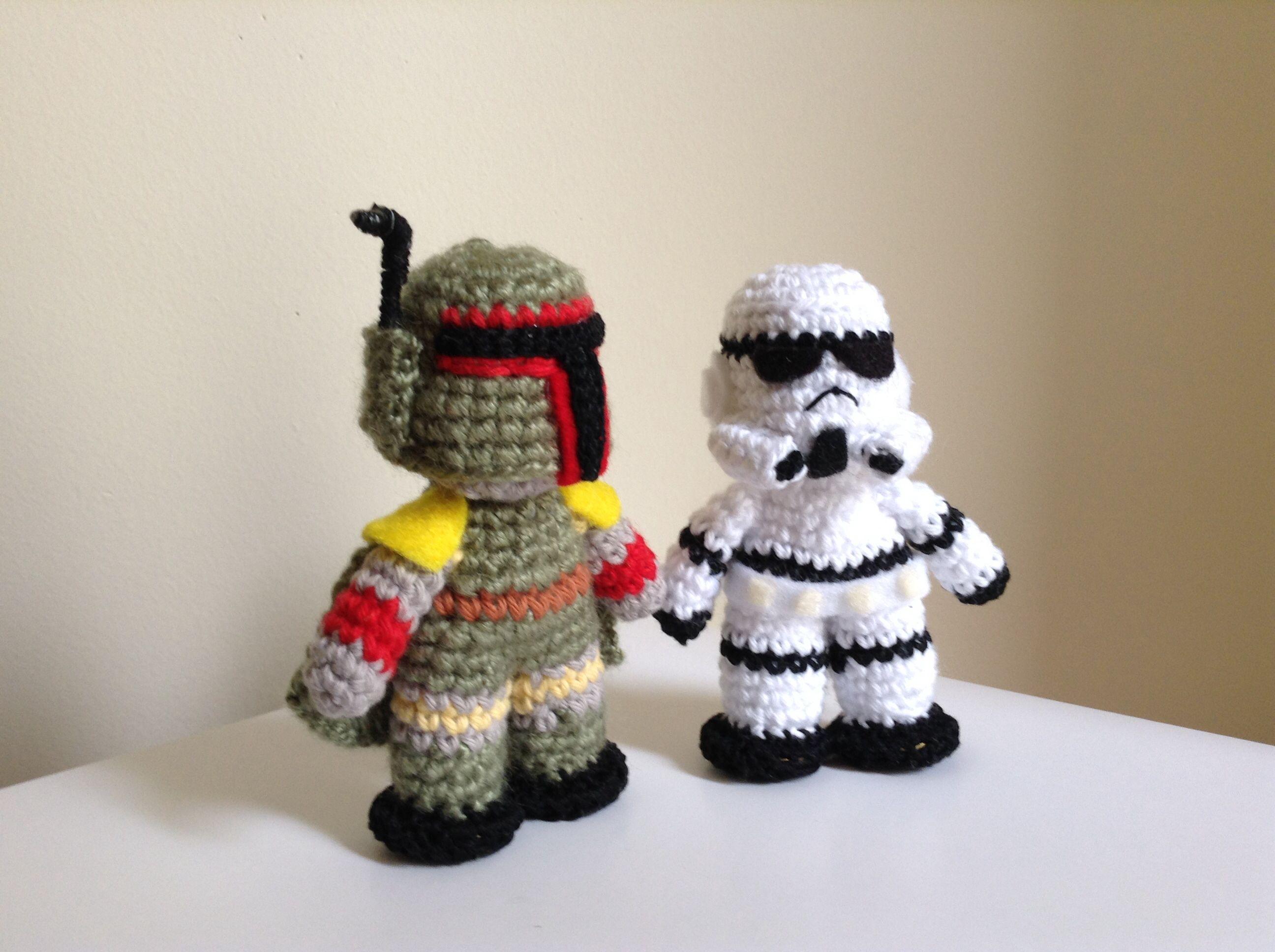 Boba Fett Storm Trooper Star Wars Crochet Amigurumi Starwars