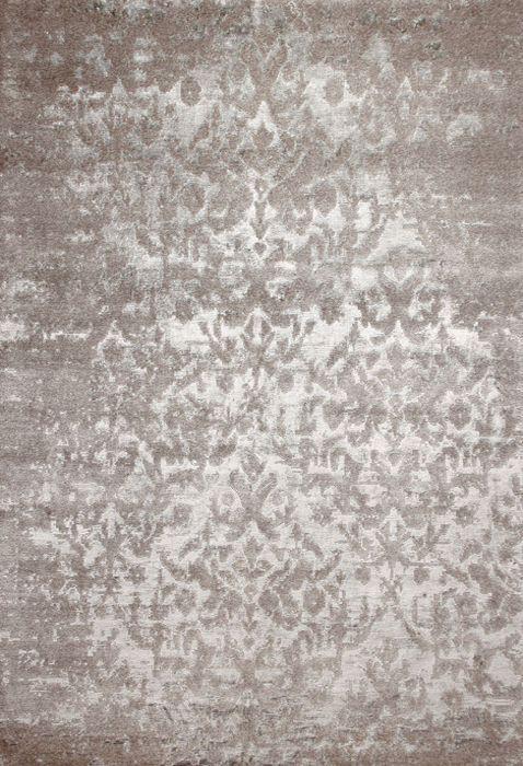Tapis Contemporain Motifs En Laine Et Soie Fait Main Taj Mahal Silver Edition Bougainville