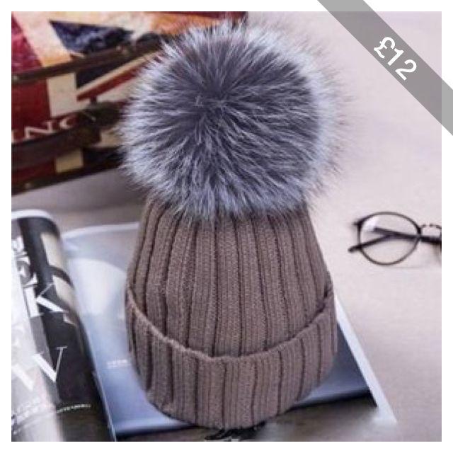 20e4fae1f3ffb Fashion Thicken Wool Knitted Warm Winter Cap Large Fur Ball Beanie Bobble  Ski Hat. 15CM Women s ...