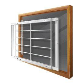 Mr Goodbar E 42 In X 31 In White Removable Window Security Bar S203 E Window Security Bars Window Security Cottage Windows