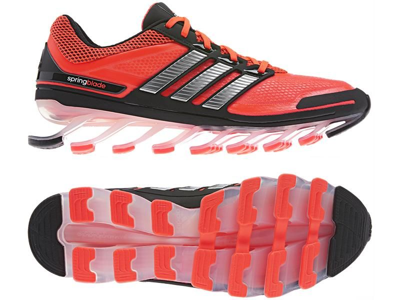 adidas Springblade is the only running shoe with blade technology designed to help propel you forward.  Springblade's 16 forward angled blades produce one of the most effective energy returns in t