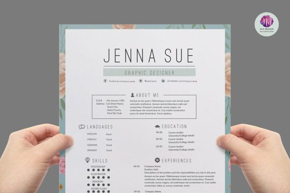 Vintage CV template, cover letter template , reference letter