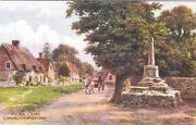 Postcard (A R Quinton *1326) Village Cross. Garsington Nr. Oxford
